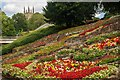 SK2521 : Flower beds at Stapenhill Gardens by Oliver Mills