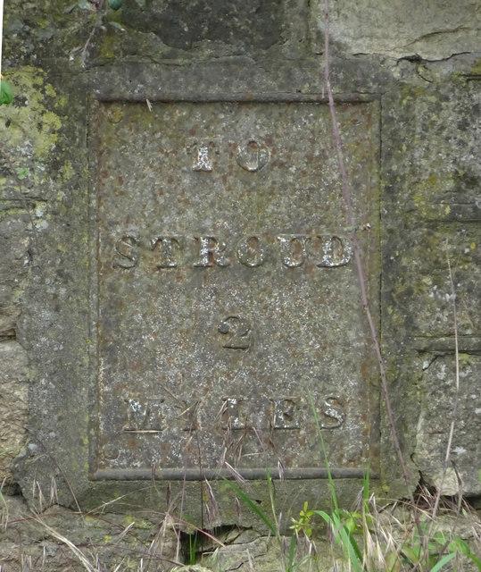 Old milestone plate, Ebly Rd