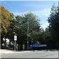 SY6890 : Covid-19 banner outside Borough Gardens, Dorchester by David Smith
