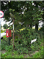 SE2601 : Post box and old finger post, Oxspring by Humphrey Bolton