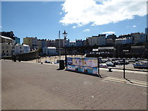 SN1300 : Tenby harbour and townscape by Jeremy Bolwell