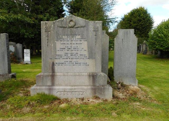 Bostock gravestone, New Kilpatrick Cemetery