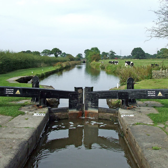 Macclesfield Canal at Bosley Locks in Cheshire