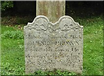 TR1859 : 17th century gravestone in St. Mary's churchyard, Fordwich by pam fray