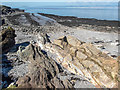 ST3266 : Volcanic tuff on the beach by Neville Goodman