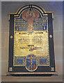 TF6923 : War Memorial in All Saints' church, Roydon  near King's Lynn by Adrian S Pye