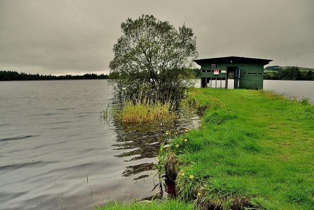 Peninsula and boathouse, Lough Macrory