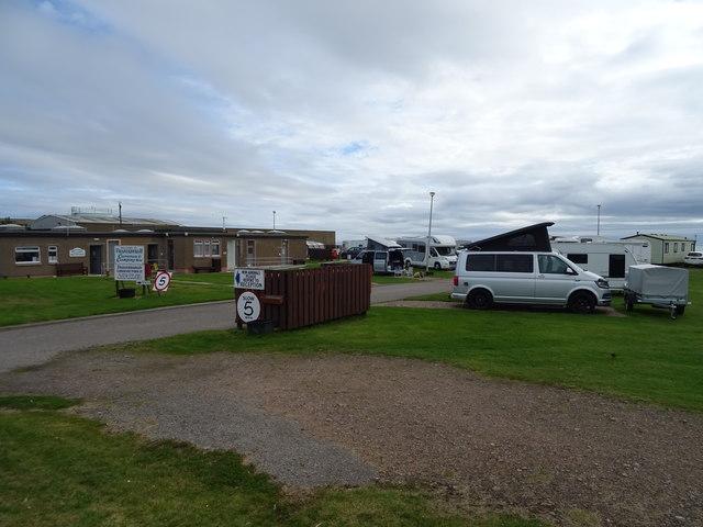 Entrance to Caravan & Camping Site, Fraserburgh