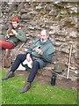SO4520 : Gemshorn player at Skenfrith by Oliver Dixon
