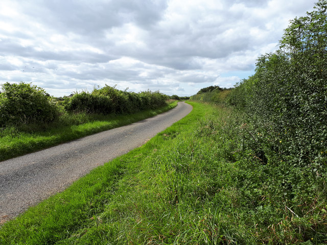 Country lane near Coln Rogers