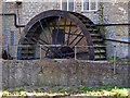 SY4692 : Waterwheel at Palmers Brewery, Bridport by Chris Allen