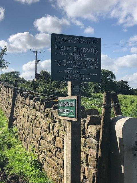 Peak & Northern Footpath Sign No 119