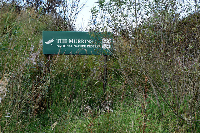 Sign for The Murrins National Nature Reserve