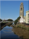 TF3244 : St Botolph's Church Tower by The River Witham by Neil Theasby