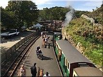 SH6441 : Porthmadog bound train at Tan-y-Bwlch by Richard Hoare