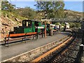SH6441 : Covid train at Tan-y-Bwlch by Richard Hoare