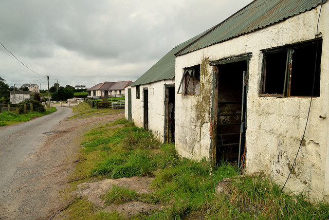 Old farm buildings along Shinnagh Road