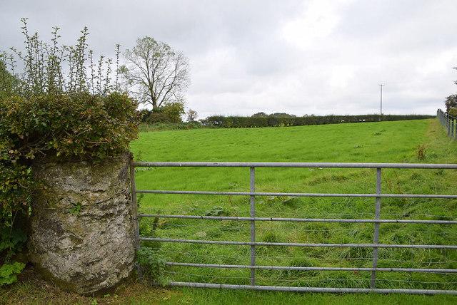 Round stone pillar and gate, Bracky