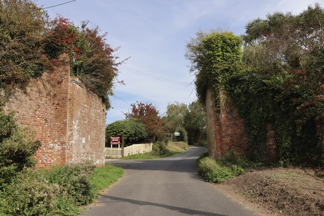 Surviving brick supports for dismantled railway at Whitwell