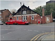 TQ2789 : East Finchley sorting office on Market Place by David Howard