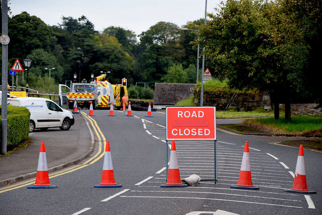 Road closed, Omagh