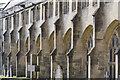 ST5545 : Cloister buttresses, Wells Cathedral by Julian P Guffogg