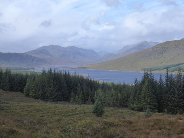 Moorland, forestry and loch