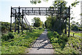 SP7576 : The old footbridge by Malcolm Neal