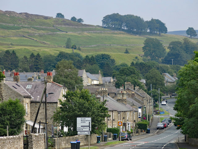 The western side of Stanhope around the A689