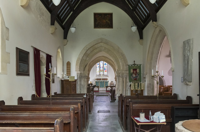 Interior, All Saints' church, Lullington