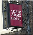 D1003 : Sign of the Adair Arms Hotel by Gerald England