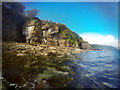 NG5413 : Sandy limestone cliffs below Glasnakille by Andy Waddington