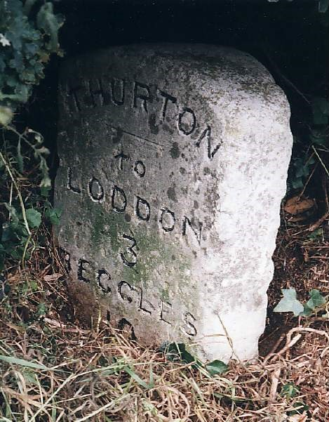 Old Milestone (north west face) by the A146, Norwich Road, Thurton