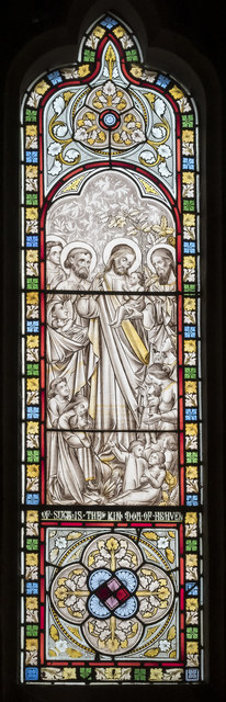 Window, All Saints' church, Lullington