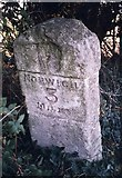TG2103 : Old Milestone (south face) by the B1113, Keswick Parish, South Norfolk by CW Haines