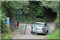 ST2089 : Cycle lane joins Ty-Canol Lane, Machen by M J Roscoe