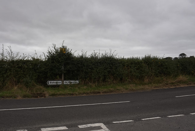 Road junction east of Great Stainton