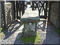ST4171 : A table in the lych gate by Neil Owen
