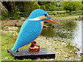 SD4314 : Kate the Kingfisher, Martin Mere Lego™ Sculpture Trail by David Dixon