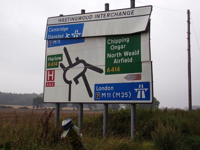 Roadsign on the B1393 London Road
