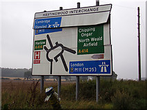 TL4706 : Roadsign on the B1393 London Road by Geographer