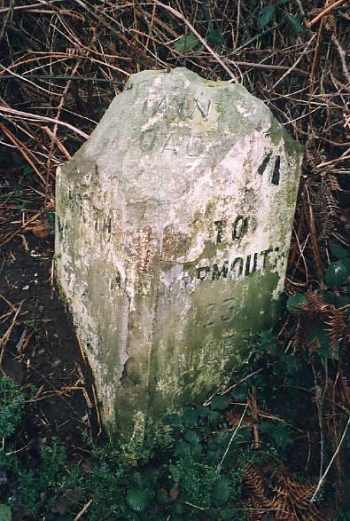 Old Milestone (west face) by Yarmouth Road, south of North Walsham