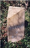TG2417 : Old Milestone (north face) by Buxton Road, west of Frettenham by CW Haines