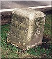 TF9732 : Old Milestone by the A148, Holt Road, by Kettlestone Belts by CW Haines
