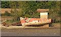 SX8972 : Abandoned boat by the Teign estuary by Derek Harper