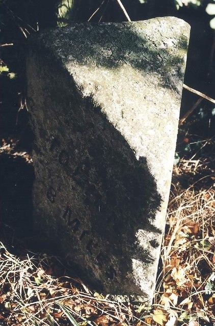Old Milestone (west face) by Sutton Road, Walpole Cross Keys Parish