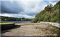 NZ0640 : Tunstall Reservoir - weir at spillway by Trevor Littlewood