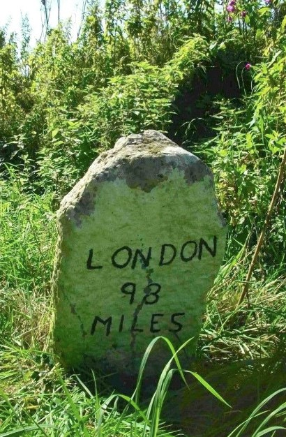 Old Milestone (north face) by Attleborough Road, Morley Parish, South Norfolk