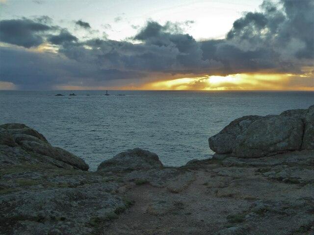 Sunset on Pedn-men-du