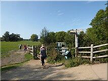 TM0733 : Constable, that's a Gainsborough: walkers heading towards Fen Bridge by Basher Eyre
